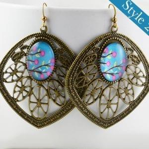 Elegant Antique Bronze Leaf Earrings Jewellery Invogue