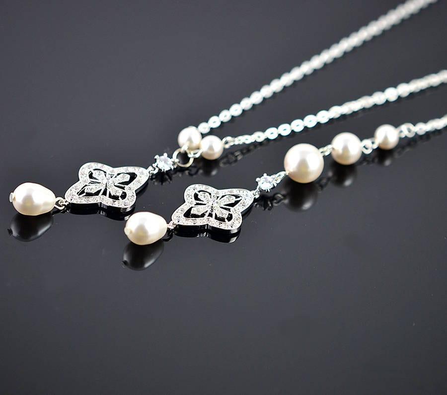 862820205cde Back Drop Bridal Necklace