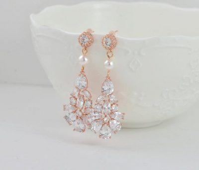 Affordable Dangle Drop wedding bridal jewellery Australia