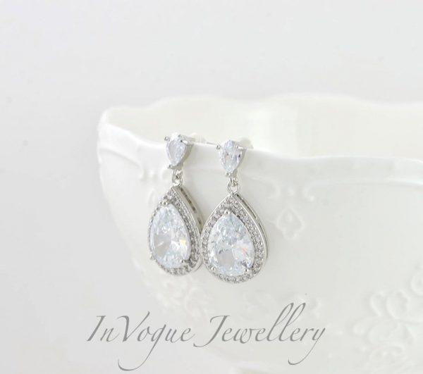 Vintage rose gold silver wedding earrings melbourne Australia