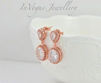 affordable wedding jewellery australia - dangle bridal earrings